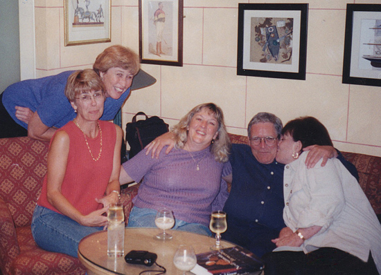 September 22, 1998. With Joan, Yvette and a traveling companion, we posed with an Irishman we had just met in the pub of the Connemara Coast Hotel. His name was Noel Quinn.