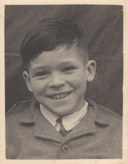 Noel must have been eight or nine years old in this photo taken after his release from the hospital in Coole.