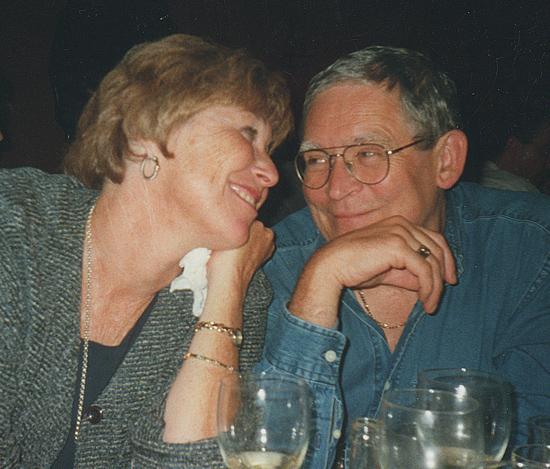Celebrating a moment together. 2000.