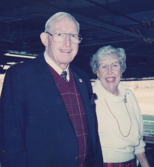 Annie's Mom and Dad, Marge and John Stonebraker.