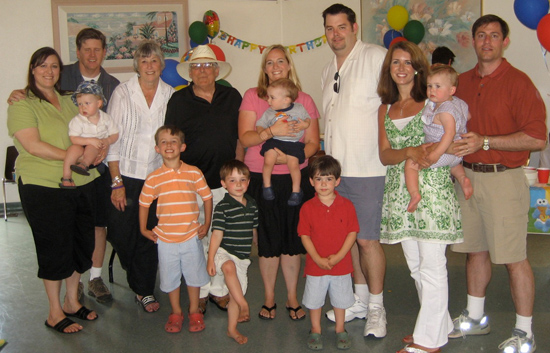April 22, 2008. All three of my children, their spouses, and my six grandsons gathered to celebrate Austin's first birthday.