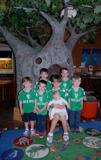 """I donated a tree in Noel's memory to the Peter and Mary Muth Interpretive Center on Newport's Back Bay. We often took the boys to the Science Center there. The tree, dubbed """"the Granda Tree,"""" was dedicated with all seven grandsons present in March 2011."""