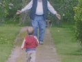 September 2008. Noel and Austin in Barryscourt Castle garden, so typical of the joy Noel found in the boys and vice versa.