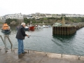 September 2008. One afternoon Noel fished from the pier in Ballycotton Bay.