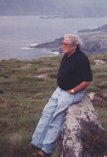 Noel dearly loved his meanders along the Irish coastline. Here at Slea Head, on the windswept Dingle Peninsula.