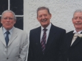 Three brothers Quin[n], Noel, Mick, and George, at Pamela and Derek O'Brien's wedding in Cratloe, County Clare.