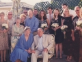 August 30, 2002. Surrounded by family and close friends in our garden just after we said our vows.
