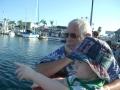 Noel and Declan ride the Balboa Island Ferry, 2008.